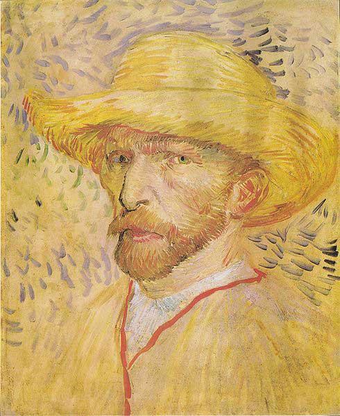 Автопортрет със сламена шапка, Париж, 1887. Van Gogh Museum, Amsterdam