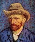 Автопортрет със сива филцова шапка, Париж, зимата на 1886-1887. Van Gogh Museum, Amsterdam