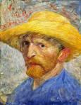 Автопортрет със сламена шапка, Париж, лятото на 1887. Detroit Institute of Arts