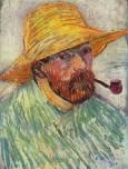 Автопортрет с лула и сламена шапка, Арл, 1888. Van Gogh Museum, Amsterdam