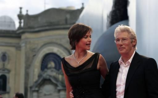 Ричард Гиър със съпругата си Кари Лоуел. Снимка: Ройтерс