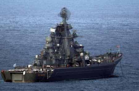 """Ракетният крайцер """"Петър Велики"""""""