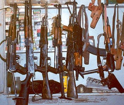 Конфискувани оръжия. Снимка: мелтгънс