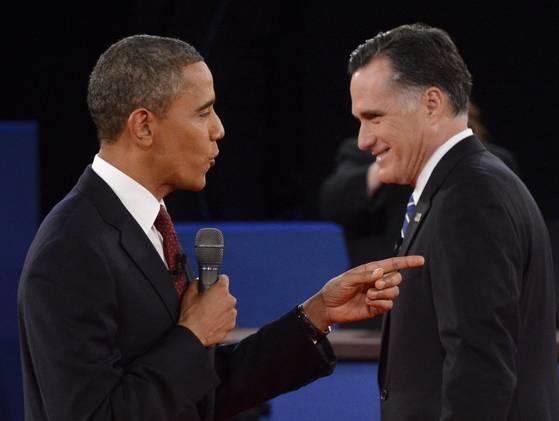 7fd74933d611 Вторият дебат между Обама и Ромни. Снимка  от тв екрана