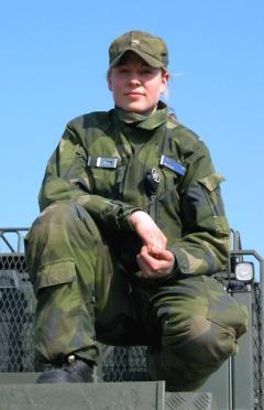 Жена от шведската армия. Снимка: официален сайт