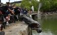 Съборената статуя на търговец на роби – британците се вглеждат в историята си